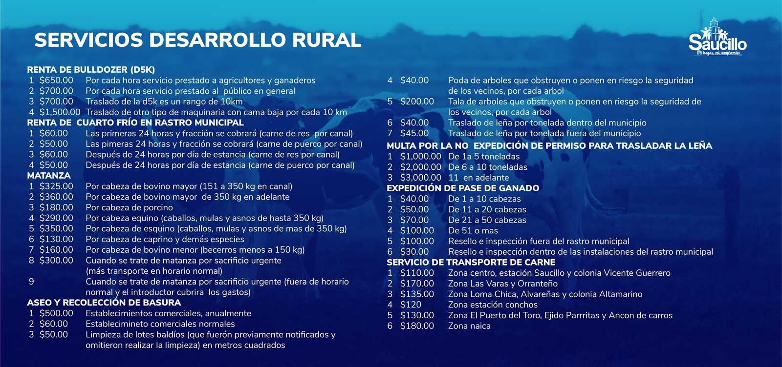 Servicios de Desarrollo Rural